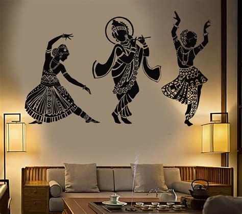 vinyl wall decal dance indian womans devadasi indian dance