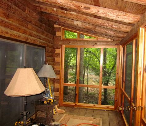 beautiful screened  porch added   log cabin porch built   leissner  cedar