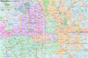 Beijing Maps  Attractions  Downtown  U0026 Districts  Streets