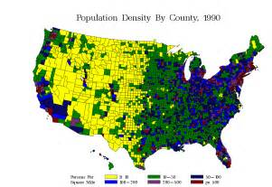 Population Density State Maps