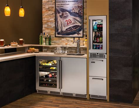 Basement Bar Refrigerator by Fully Stocked Home Bar Basement Milwaukee By Perlick