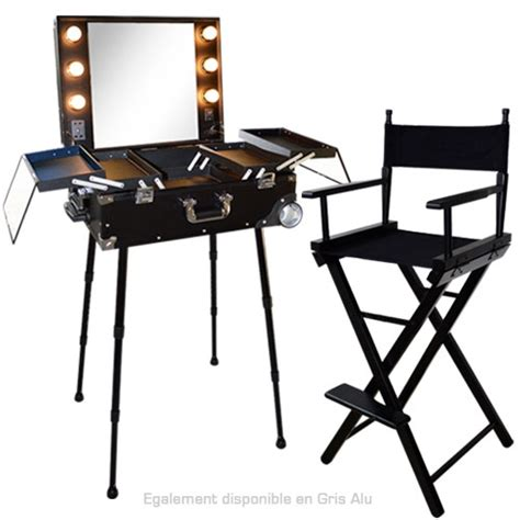 table et chaise de bar professionnel ensemble studio up noir table et chaise de maquillage