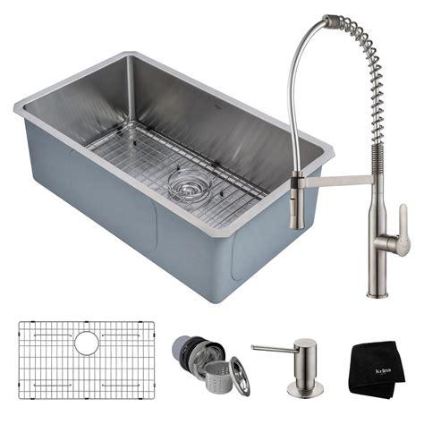 stainless undermount kitchen sinks vigo undermount stainless steel 30 in single bowl kitchen 5739