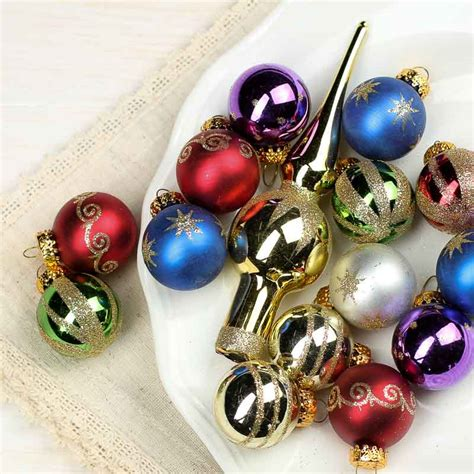 assorted miniature glass christmas ornaments christmas