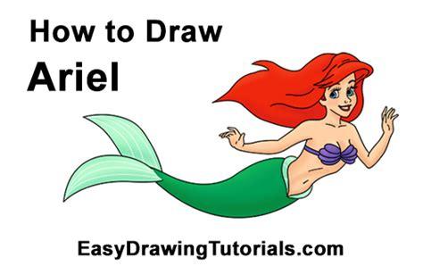 draw ariel    mermaid full body