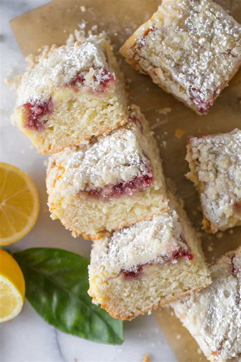 Carefully spoon preserves evenly over cream cheese mixture. Lemon Raspberry Cream Cheese Coffee Cake - Lovely Little Kitchen