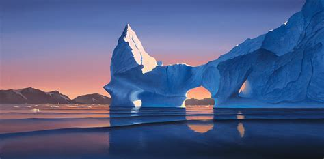 Icebergs At Sunset Photograph by Cliff Wassmann
