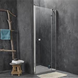 porte de douche pivotante 90 cm transparent premium2 With porte de douche double battant 90