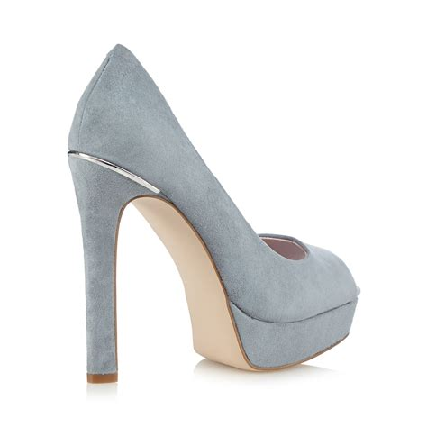 light blue suede heels faith womens light blue suede high court shoes from