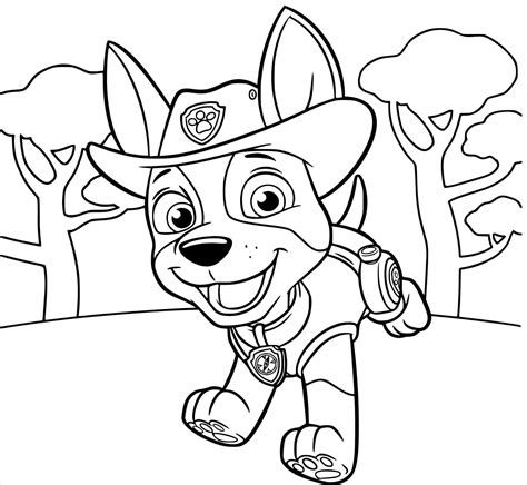 Paw Patrol Tracker Coloring Pages at GetColorings com