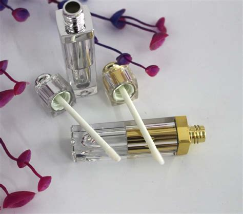 pcs golden  silver ml lip gloss tubes cosmetic