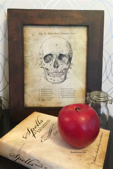 skull sign halloween printable  idea room