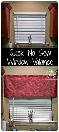 how to make a window valance Quick No Sew Window Valance