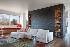 15, Living, Room, Designs, With, Natural, Stone, Walls