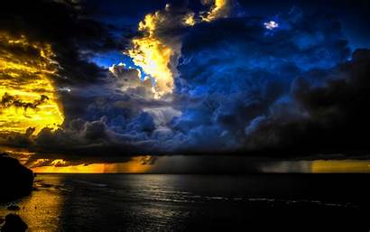 Storm Clouds Ocean