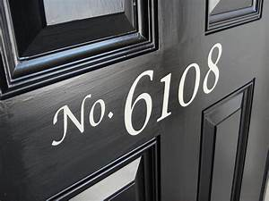 Front door house numbers vinyl lettering by piccadillypeddler for Plastic house letters