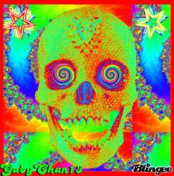 Trippy Psychedelic Skull
