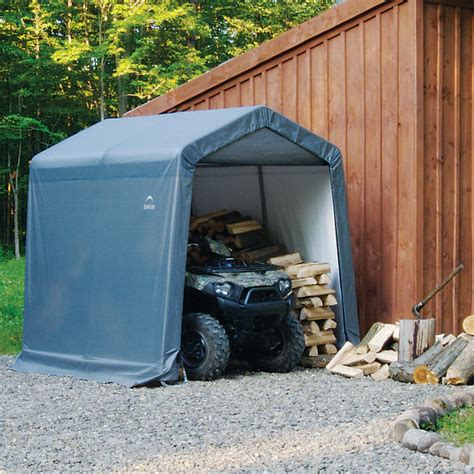 lawn tractor shed shelterlogic 8 x 8 x 8 portable firewood atv lawn 3685