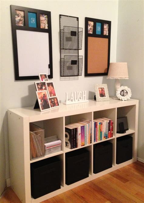 Command center using and Ikea Expedit shelf and matching