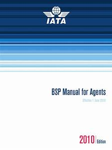 Bsp Manual For Agents June 2010