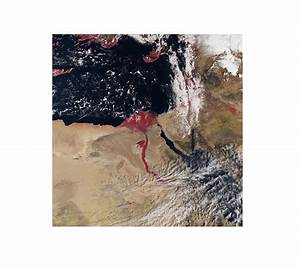 Blood-red Nile River Seen From Space