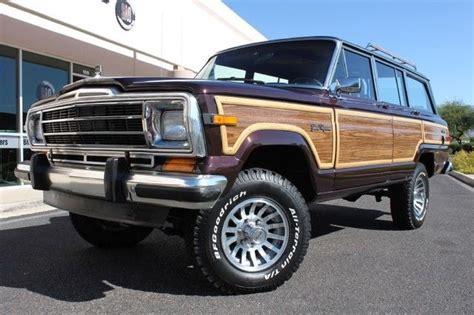1989 jeep wagoneer limited 1989 jeep grand wagoneer limited 4x4 77351 miles black