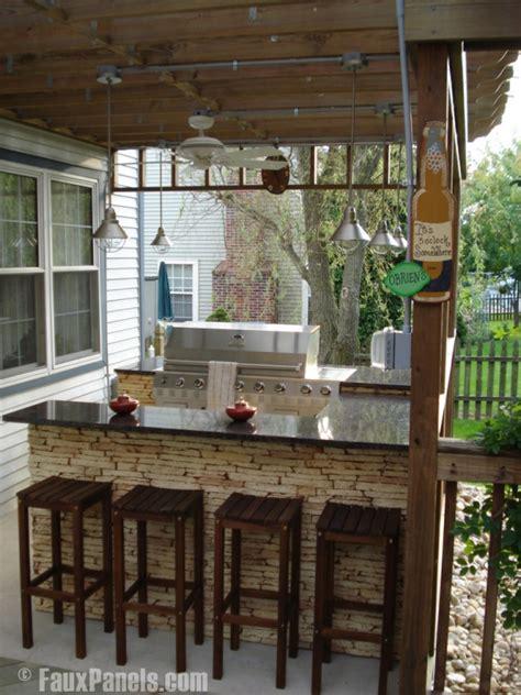 enhance summer outdoor living  stone veneer accents