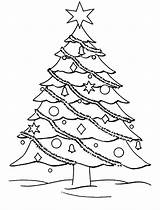 Coloring Christmas Pages Tree Trees Decorate Colouring Getcoloringpages sketch template