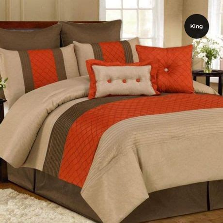 king size oversized 8pc comforter orange retail price 229 99 quot our price is 89 00 quot only