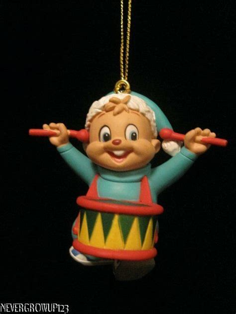 alvin and the chipmunks christmas ornament alvin and the chipmunks ornament theodore drums nip ebay