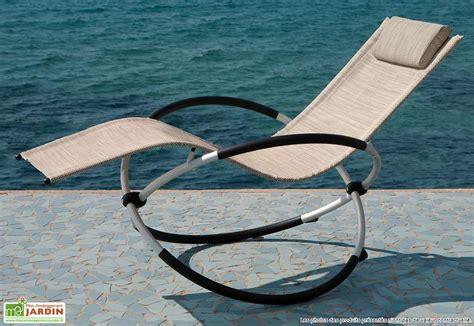 chaise qui se balance transat à bascule cosmo transat à bascule cosmo 2 coloris mc garden