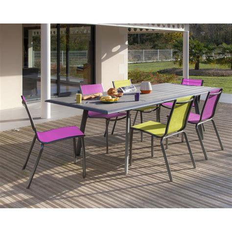 chaise de jardin linea en aluminium et textil 232 ne fuschia proloisirs