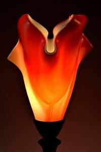 Lucas Krenzin  U2013 Fused Glass Art  U00bb Abstract Orange Table Lamp
