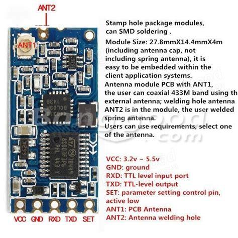 hc 12 433 si4463 wireless serial module remote 1000m with antenna sale banggood stuff to
