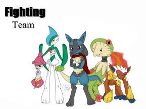 Pokemon Fighting Type Team
