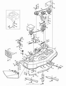 Troy Bilt 13ax60kh011 Super Bronco  2008  Parts Diagram For Mowing Deck 46