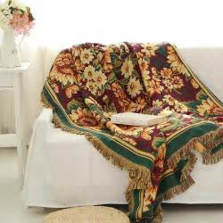 sofa throws 100 cotton sofa towel gerbera duplex print sofa chair blanket slip resistant vintage sofa cover