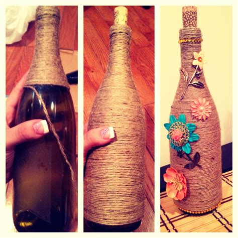 Decorate Wine Bottles - use wine bottles to decorate trusper