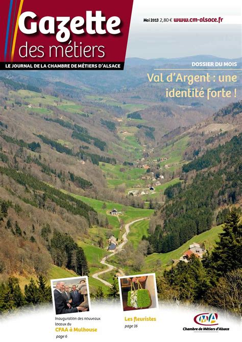 chambre metiers alsace calaméo gazette des métiers mai 2013