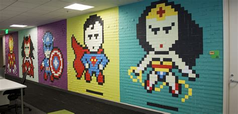 post it bureau this 39 s office post it murals put the rest of us to shame