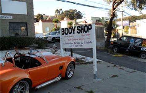 auto body collision repair services  san francisco