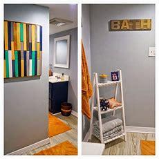 Diy Reclaimed Wood Bath Art And Towel Rack