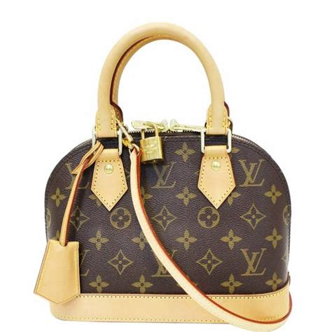 louis vuitton alma bb monogram canvas satchel cross body