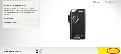 nikon keymission action cameras listed  discontinued