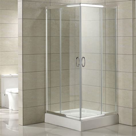 corner tempered glass shower enclosure signature hardware
