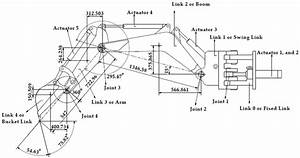 Schematic View Of A Backhoe Excavator Attachment Iv