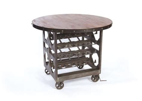 napa cellar dining table with reclaimed wood top on black