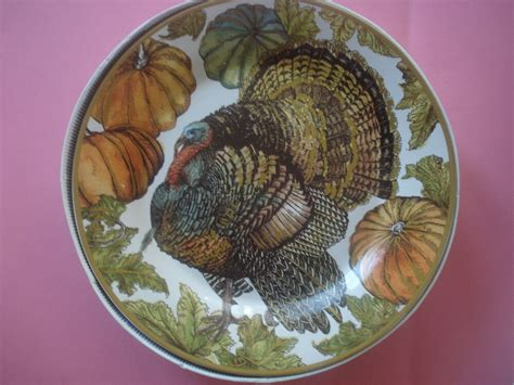 Pottery Barn Thanksgiving Plates by Pottery Barn Heritage Turkey Dinner Plates Thanksgiving