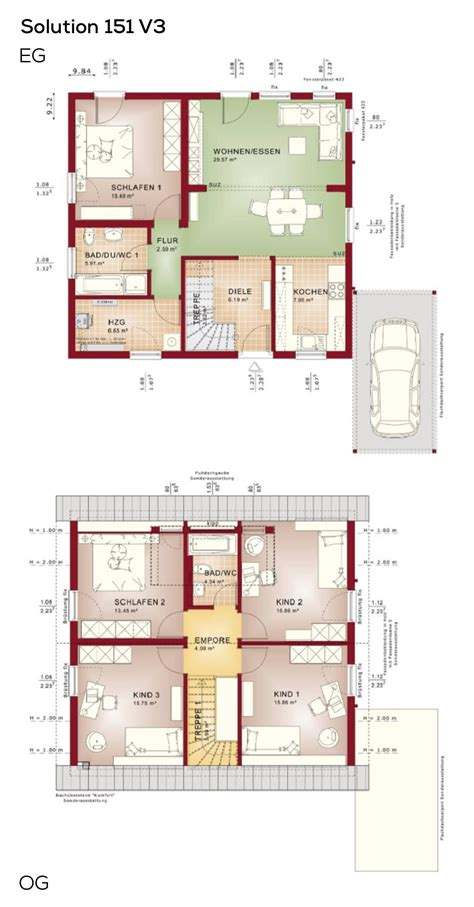 Offene Wohnküche Grundriss by Grundrisse Einfamilienhaus Mit Satteldach Und Carport 6