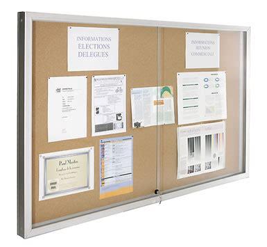 affichage bureau vitrine d 39 affichage coulissante luxe